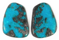 NATURAL MORENCI TURQUOISE MATCHED PAIR