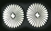 LOVELY PETE JOHNSON SILVER POST EARRINGS
