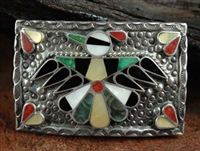 BOBBY AND CORRAINE SHACK ZUNI INLAID BUCKLE