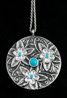 REBECCA BEGAY BEAUTIFUL MULTI FLOWER PENDANT