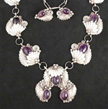 STUNNING BRAZILIAN AMETHYST COLLAR NECKLACE