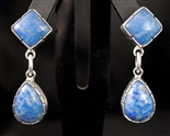 VERNON BEGAY DENIM LAPIS DANGLE EARRINGS