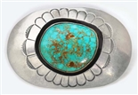JERRY QUINTANA ROYSTON TURQUOISE BELT BUCKLE