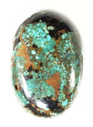 NATURAL PILOT MOUNTAIN TURQUOISE CABOCHON 28 cts