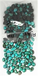 NATURAL AJAX TURQUOISE CABOCHONS 416 cts