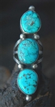 LOVELY WEBBED MORENCI TURQUOISE RING