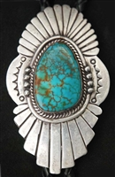 BEAUTIFUL NAVAJO #8 TURQUOISE BOLO TIE
