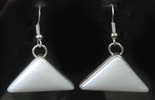 JIMMY HERALD SR. WHITE AGATE EARRINGS