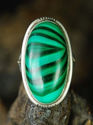 NICHOLAS GAMBINO WHITE HOGAN MALACHITE RING