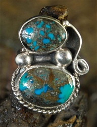 LOVELY NAVAJO MORENCI TURQUOISE RING