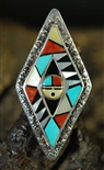 BEAUTIFUL ZUNI SUNFACE RING
