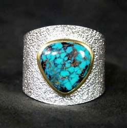 DARRYL DEAN BEGAY WIDOW MAKER TURQUOISE RING