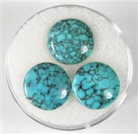 NATURAL #8 TURQUOISE CABOCHONS 6cts