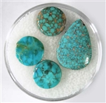NATURAL #8 TURQUOISE CABOCHONS 6.5 cts