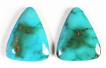 NATURAL PILOT MOUNTAIN TURQUOISE PAIR 8.5 cts