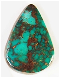 NATURAL PILOT MOUNTAIN TURQUOISE CABOCHON 13 cts