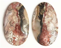 MEXICAN LACE AGATE MATCHED CABOCHONS