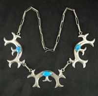 FRANCES JONES CAST MORENCI TURQUOISE NECKLACE