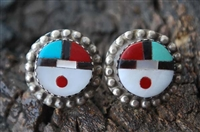 ROGER CELLICION 1960's SUNFACE EARRINGS