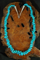 BEAUTIFUL NATURAL MORENCI TURQUOISE NECKLACE