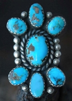 BEAUTIFUL VINTAGE PERSIAN TURQUOISE RING
