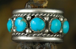 BEAUTIFUL VINTAGE MORENCI TURQUOISE RING
