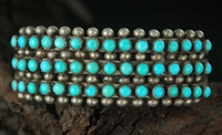 LOVELY ZUNI SNAKE EYE CUFF BRACELET