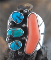 BEAUTIFUL BURNHAM TURQUOISE MENS RING