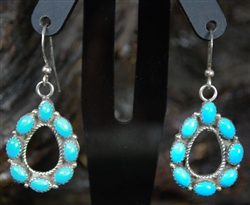 "BEAUTIFUL SLEEPING BEAUTY TURQUOISE EARRINGS<SPAN style=""COLOR: #ff0000; FONT-WEIGHT: bold"">*SOLD*</SPAN></SPAN>"