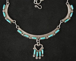 BEAUTIFULLY CRAFTED TURQUOISE ZUNI COLLAR
