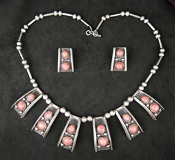 ALBERTO CONTRERAS ANGEL CORAL NECKLACE & EARRINGS