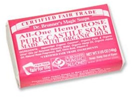 Dr. Bronner's Organic Rose Bar Soap 5 OZ.