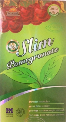 2012 Slim Pomegranate Chinese Slimming Pills - 30 Capsules