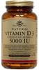 Solgar Vitamin D3 5000 IU - Vegicaps or Softgels
