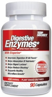 Top Secret Nutrition Digestive Enzymes 90 Caps