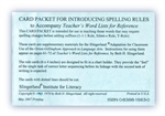 Spelling Rule Card Pack