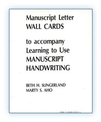 Manuscript Letter Wall Cards w/o Pictures