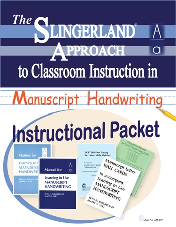 Instructional Packet for Learning to Use Manuscript Writing