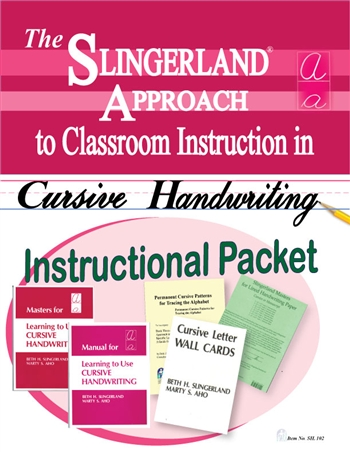 Instructional Packet for Learning to Use Cursive Writing