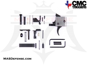 CMC TRIGGERS CURVED AR-15 / AR-10 DROP-IN TRIGGER WITH COMPLETE LOWER RECEIVER PARTS KIT FOR AR-15 - SINGLE STAGE 3.5LB - 81501