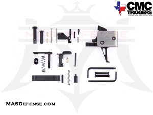 CMC TRIGGERS FLAT AR-15 / AR-10 DROP-IN TRIGGER WITH COMPLETE LOWER RECEIVER PARTS KIT FOR AR-15 - SINGLE STAGE 3.5LB FLAT - 81503