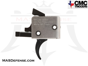 CMC TRIGGERS CURVED AR15 / AR-10 DROP-IN TRIGGER SINGLE STAGE 3.5 - 4 LB - 91501