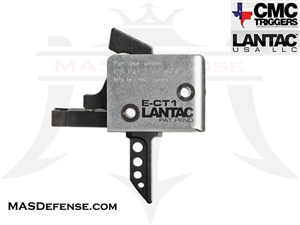CMC / LANTAC E-CT1 FLAT TRIGGER SINGLE STAGE 3 - 3.5 LB - 91513