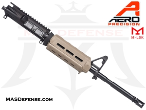 "16"" 5.56 /.223 AERO PRECISION BARRELED UPPER W/ PINNED FSB MAGPUL MOE CARBINE - APAR502504M64 - FDE"