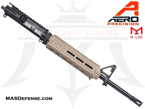 "16"" 5.56 /.223 AERO PRECISION BARRELED UPPER W/ PINNED FSB MAGPUL MOE - APAR502504M65 - MID-LENGTH GAS - FDE"
