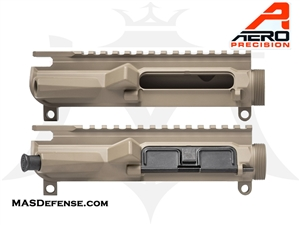 AERO PRECISION AR15 M4E1 THREADED UPPER RECEIVER - FDE - APAR700202C, APAR700202AC
