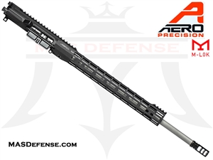 "20"" 6.5 GRENDEL AERO PRECISION BARRELED UPPER W/ BCG, FCH AND VG6 - 15"" M-LOK ATLAS S-ONE - BLACK - APSL100020"