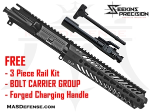 "7.5"" 300 BLACKOUT BARRELED UPPER - SEEKINS MCSR V2 9""  ***FREE BCG - CHARGING HANDLE - 3 PIECE RAIL KIT"