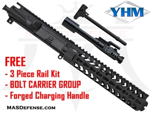 "7.5"" 300 BLACKOUT BARRELED UPPER - YANKEE HILL 9.29"" S.L.K. KEYMOD SERIES - YHM-5240  ***FREE BCG - CHARGING HANDLE - 3 PIECE RAIL KIT"