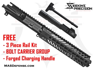 "7.5"" 9MM BARRELED UPPER - SEEKINS MCSR V2 9""  ***FREE BLEMISHED BCG - CHARGING HANDLE - 3 PIECE RAIL KIT"